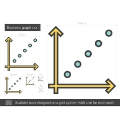 Business graph line icon vector