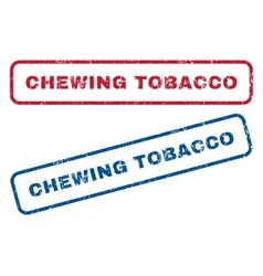 Chewing tobacco rubber stamps vector