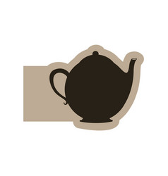 black contour teapot icon vector image