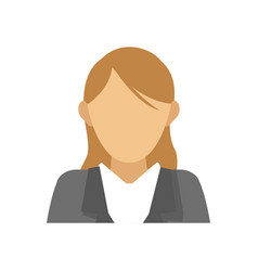 Businesswoman cartoon icon vector