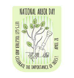 Arbor day icon young oak tree vector