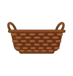 Simple straw basket vector
