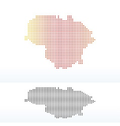 Map of lithuania with dot pattern vector