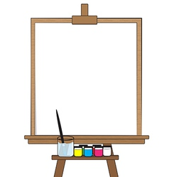 Drawing board vector