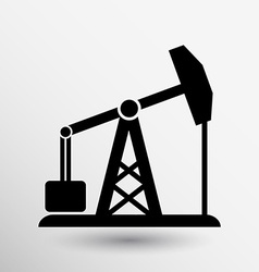 Oil rig icon button logo symbol concept vector