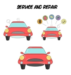 Car service and repair vector