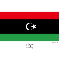 National flag of libya with correct proportions vector