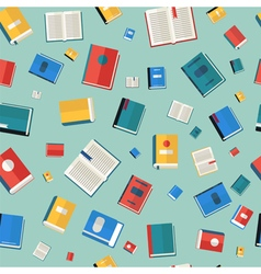 Books seamless pattern different colorful books vector