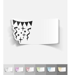 Realistic design element festive confetti vector