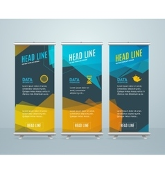 Roll up banner with bubble speech vector