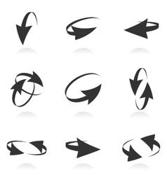 Volume set of cursors graphics vector