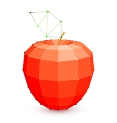 Geometric Red Apple vector image