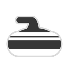 Curling stone icon vector