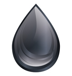 Black oil drop isolated icon vector