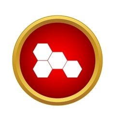 Honeycomb icon simple style vector