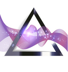 abstract purple wave in triangle vector image