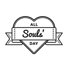 All souls day holiday greeting emblem vector