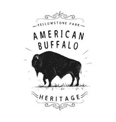 American buffalo vector