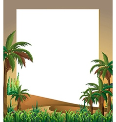 An empty template with a dessert and plants at the vector image vector image