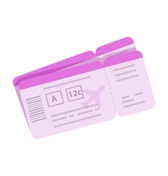 Cartoon boarding pass tickets for travel by vector