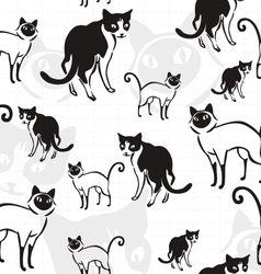 cats mix pattern vector image vector image
