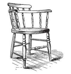 Chair vintage vector