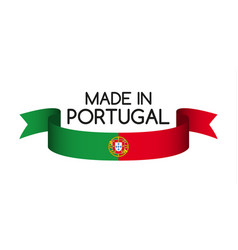 Colored ribbon with the portuguese colors vector