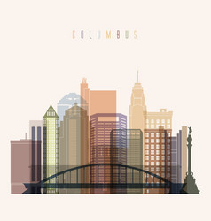 columbus skyline vector image vector image