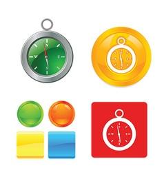Compass icon set vector