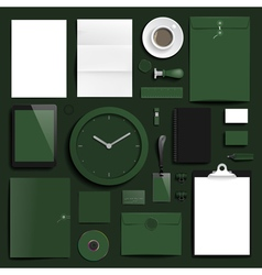 Corporate identity objects mock-up template vector