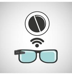Digital glasses wifi medical pharmacy vector