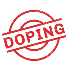 Doping rubber stamp vector image vector image