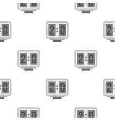 Electronic soccer scoreboard pattern seamless vector