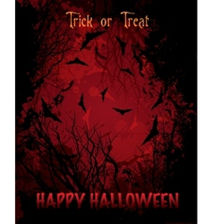 Halloween night red background vector image vector image