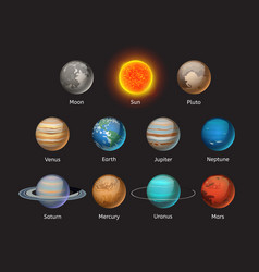 high quality solar system planet galaxy astronomy vector image