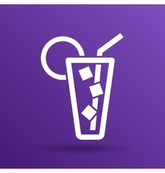 icon of glass with a cocktail vector image