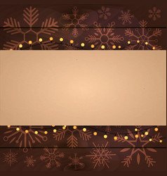 merry christmas and happy new year wood vector image vector image