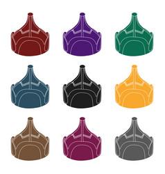 Mongolian military helmetcolored metal helmet vector