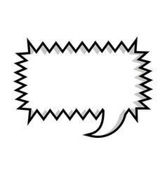 Monochrome silhouette rectangle callout scream for vector