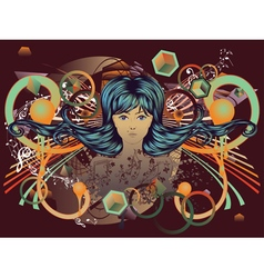 Music Girl vector image vector image