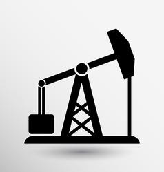 Oil rig icon button logo symbol concept vector