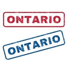 Ontario rubber stamps vector