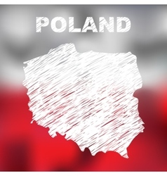 Polish abstract map vector
