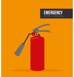 red extinguisher bottle vector image