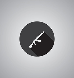 Rifle symbol flat vector image