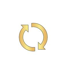 Rotation arrows computer symbol vector