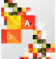 square elements with infographics and options vector image