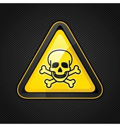 toxic warning sign vector image