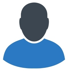 User Flat Symbol vector image vector image