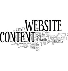 Wise words on website content text word cloud vector